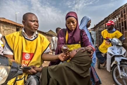 Polio-Impfaktion in Nigeria ermöglicht durch Rotary International