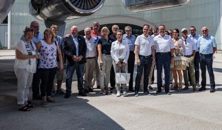 Mitglieder des RC Landsberg und des RC Illnau-Effretikon